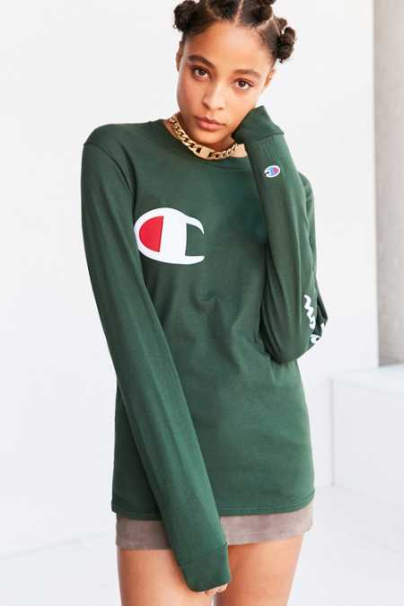 Champion Long-Sleeve Logo Tee