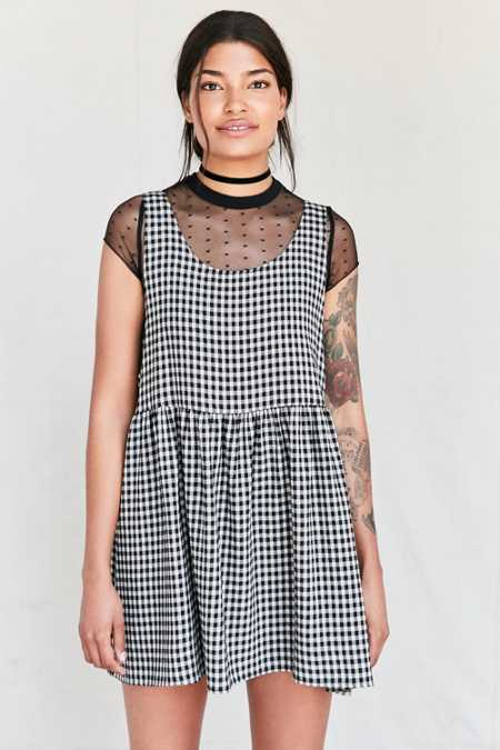 Urban Renewal Recycled Checkered Babydoll Dress