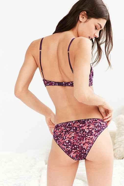 Out From Under Brushed Lace Bikini,PURPLE MULTI,L