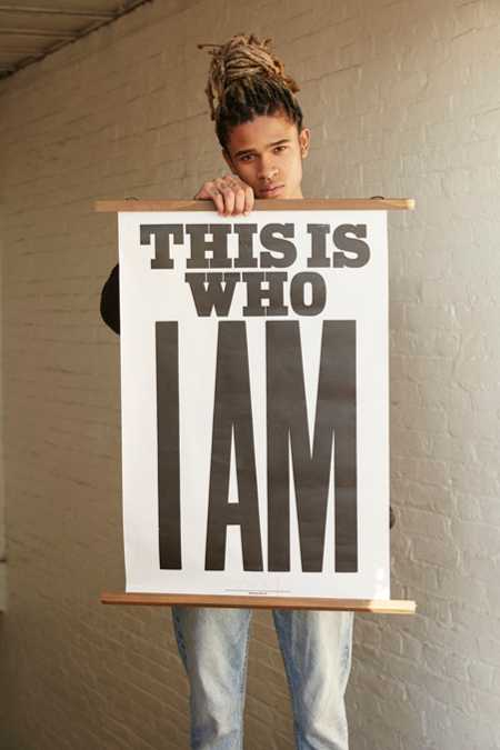 Anthony Burrill This Is Who I Am Letterpress Poster