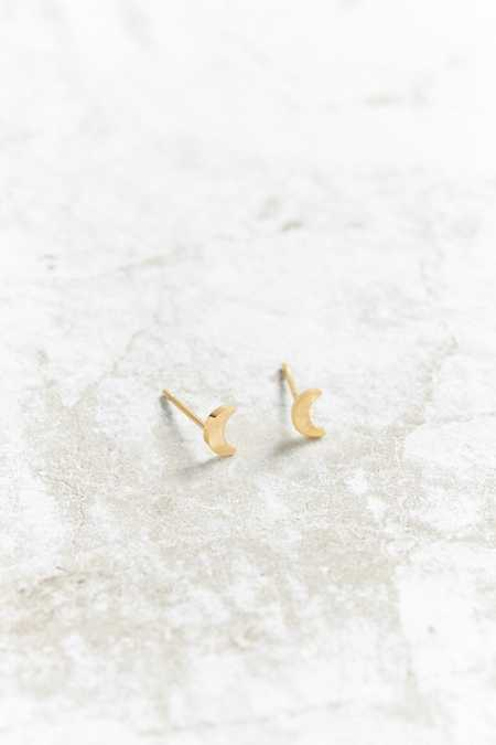 Seoul Little 24K Gold Plated Moon Post Earring