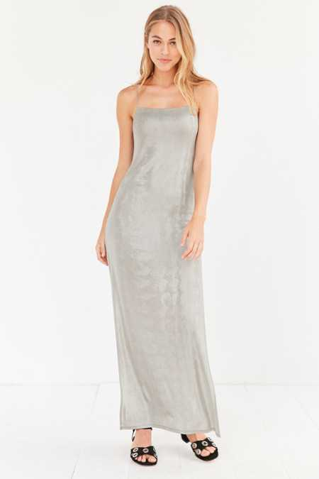 Silence + Noise Posh Metallic Maxi Dress