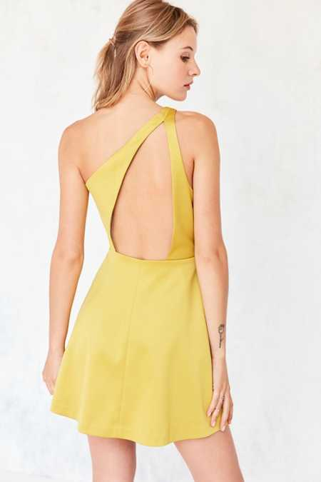 Silence + Noise Sunbeam One-Shoulder Mini Dress