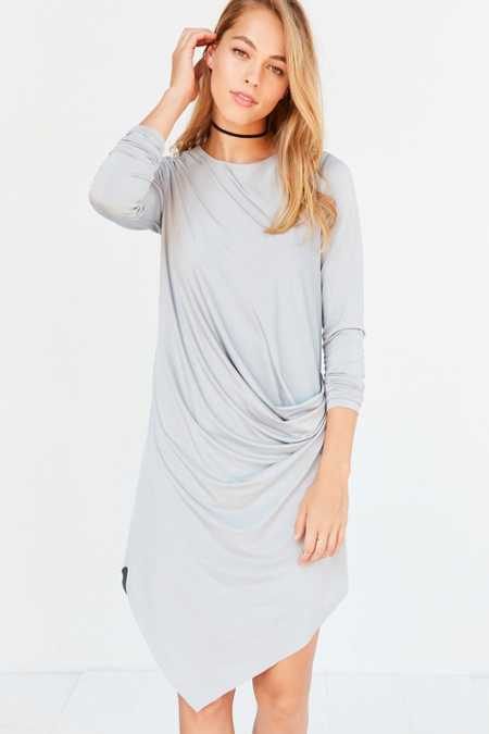 Silence + Noise Xander Drape-Side Midi Dress