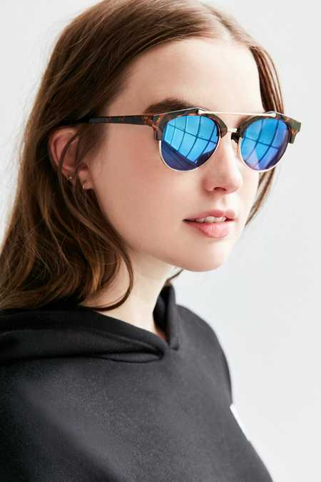 Kelly Half-Frame Brow Bar Sunglasses