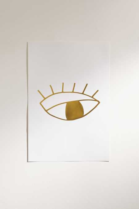 Cult Paper Limited Edition Gold Foil Eye Art Print
