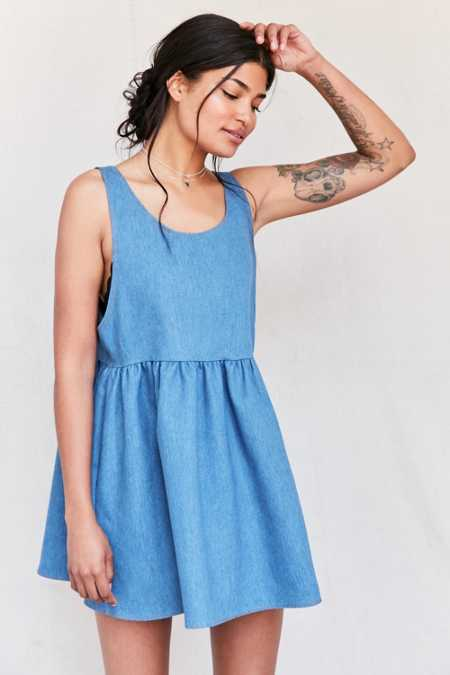Urban Renewal Recycled Denim Babydoll Dress