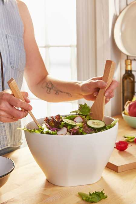 Modern Salad Bowl Serving Set