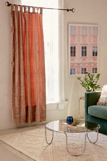 Crushed Velvet Window Curtain