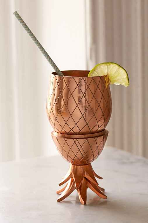 The Pineapple Co. Pineapple Tumbler,COPPER,ONE SIZE