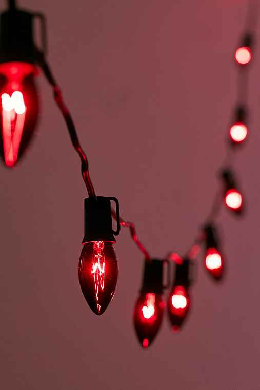 Black-Tinted String Lights - Urban Outfitters