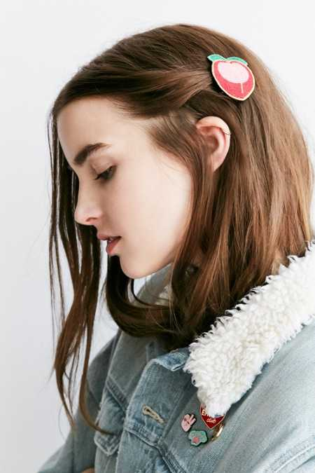 Embroidered Patch Hair Clip
