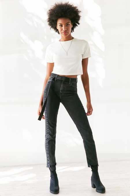 BDG Girlfriend High-Rise Jean - Deconstructed Hem