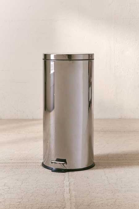 Polished Step Trash Can