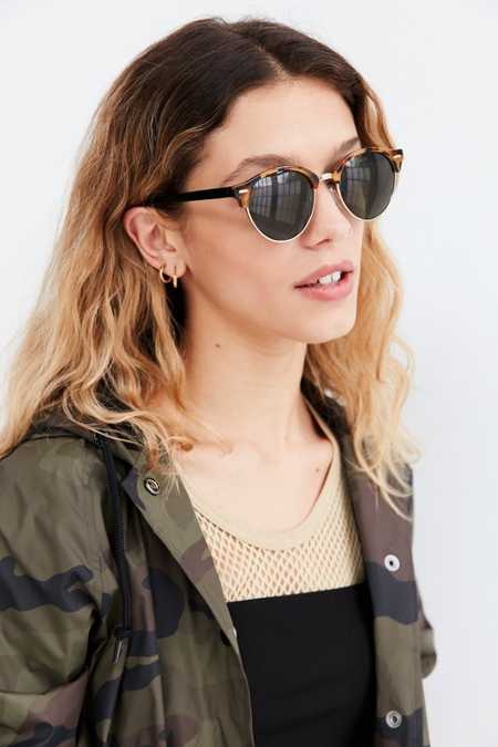 Gia Rounded Half-Frame Sunglasses