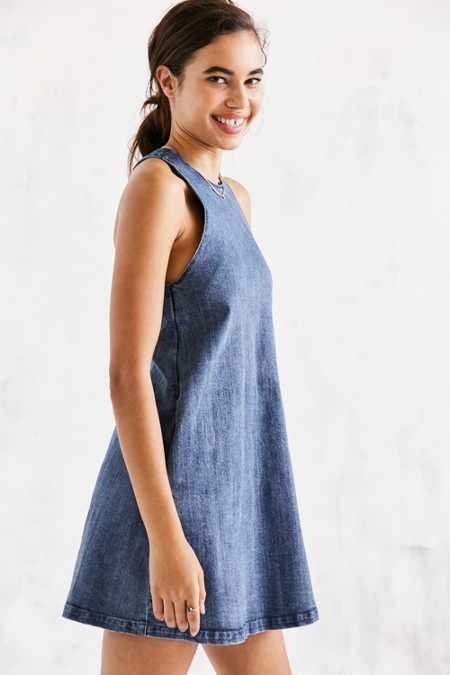 The Fifth Label Denim Mini Shift Dress