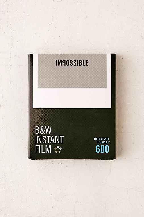 Impossible Black + White Polaroid 600 Instant Film,BLACK & WHITE,ONE SIZE