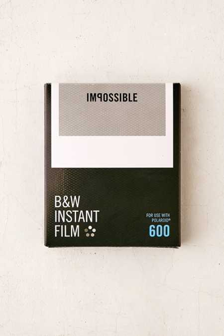 Impossible Black + White Polaroid 600 Instant Film