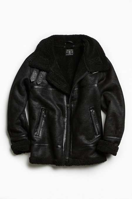 UO Faux Shearling B-3 Bomber Jacket