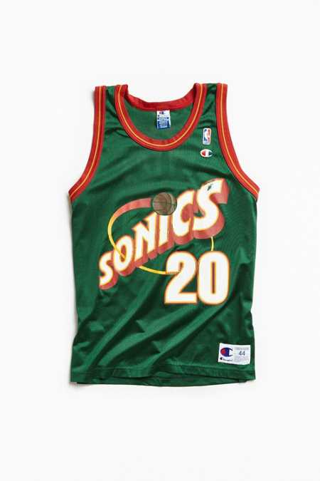 Vintage Gary Payton Sonics Home Jersey