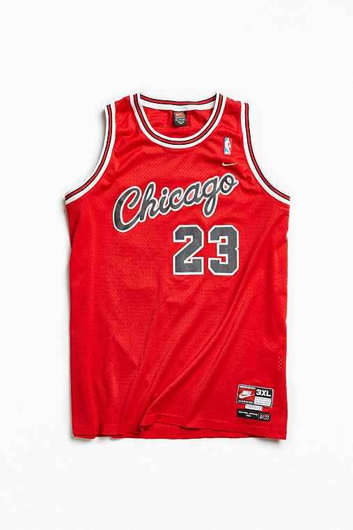 Vintage Michael Jordan Bulls 3XL Jersey,RED,XXXL