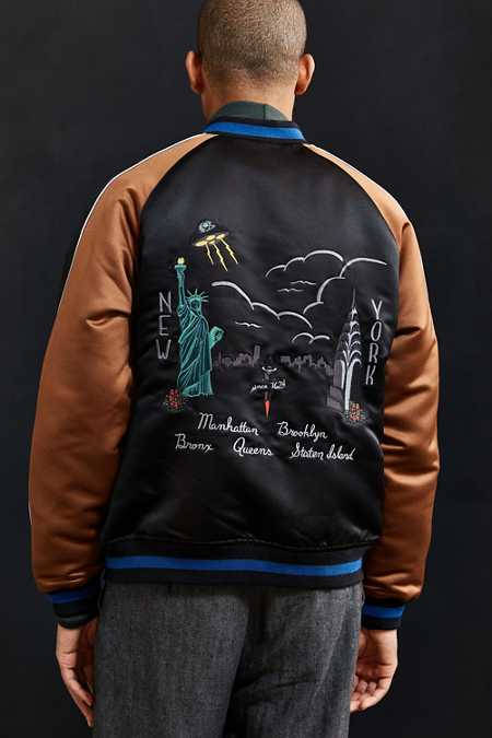 UO Embroidered New York City Souvenir Jacket