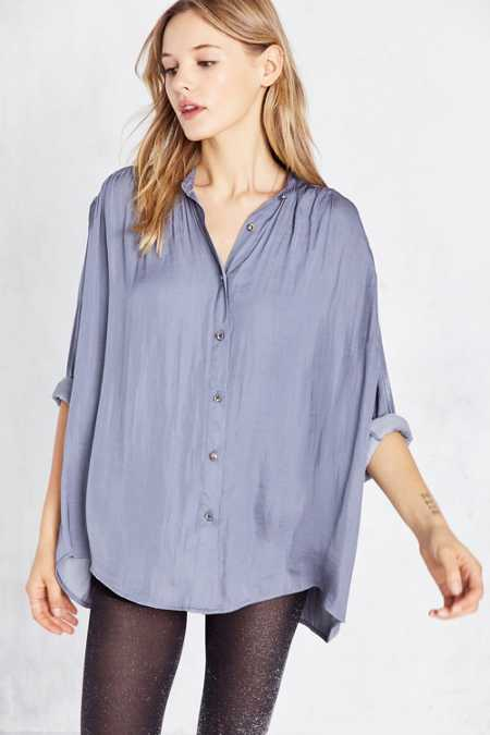 Ecote Lihoh Diamond Button-Down Blouse