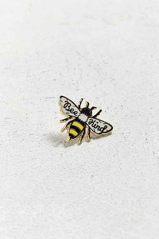 Beholder Bee Kind Pin,WHITE,ONE SIZE