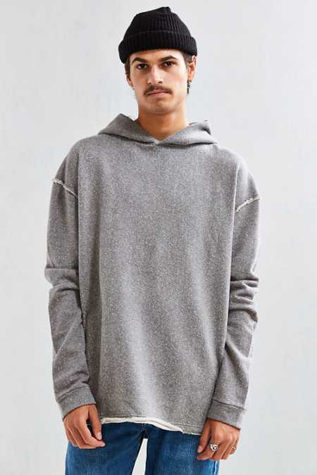 Poetto Destructed Long Hoodie Sweatshirt