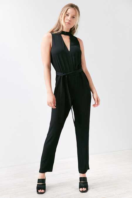 Bardot Kaia Cutout Mock Neck Jumpsuit