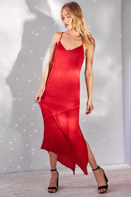 Bardot Makayla Spliced Slip Midi Dress