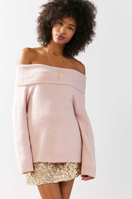 Kimchi Blue Ema Off-The-Shoulder Sweater