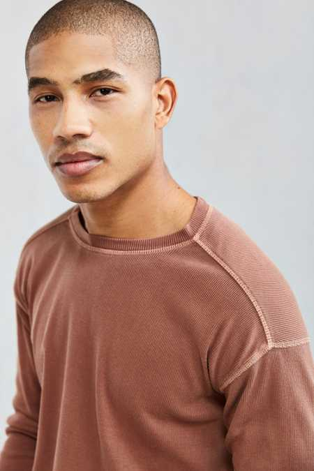 UO Essential Ribbed Thermal Long Sleeve Tee