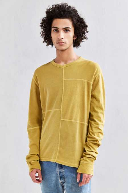 UO Anson Thermal Blocked Long Sleeve Tee