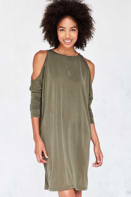 Silence + Noise Cold Shoulder Cocoon Mini Dress