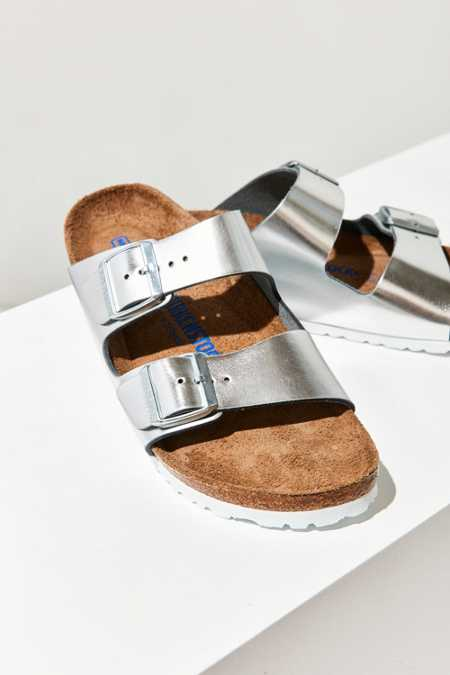 Birkenstock Metallic Arizona Soft Footbed Slide
