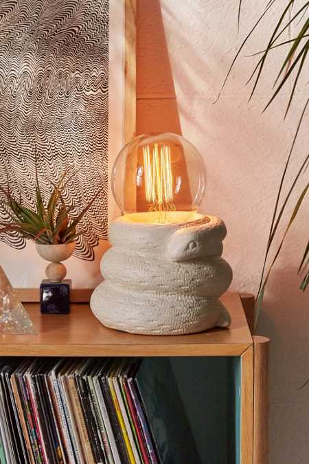 Ceramic Snake Table Lamp