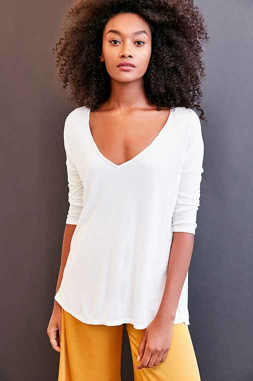 Project Social T Sapphire 3/4 Sleeve Dolman Tee,WHITE,M