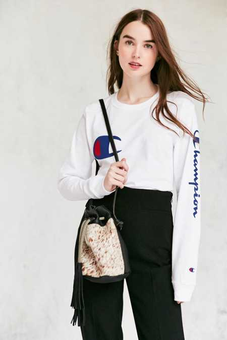 Eleven Thirty Christie Calf Hair Mini Bucket Bag