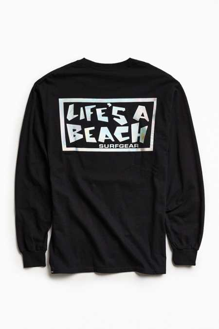 Life's A Beach Foil Logo Long Sleeve Tee