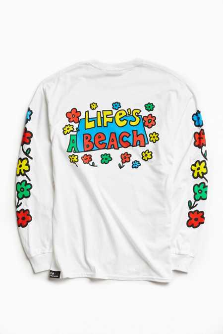 Life's A Beach Flower Long Sleeve Tee