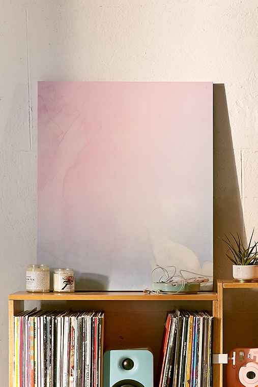 Emanuela Carratoni For DENY Serenity And Rose Canvas Wall Art,PINK,8X10