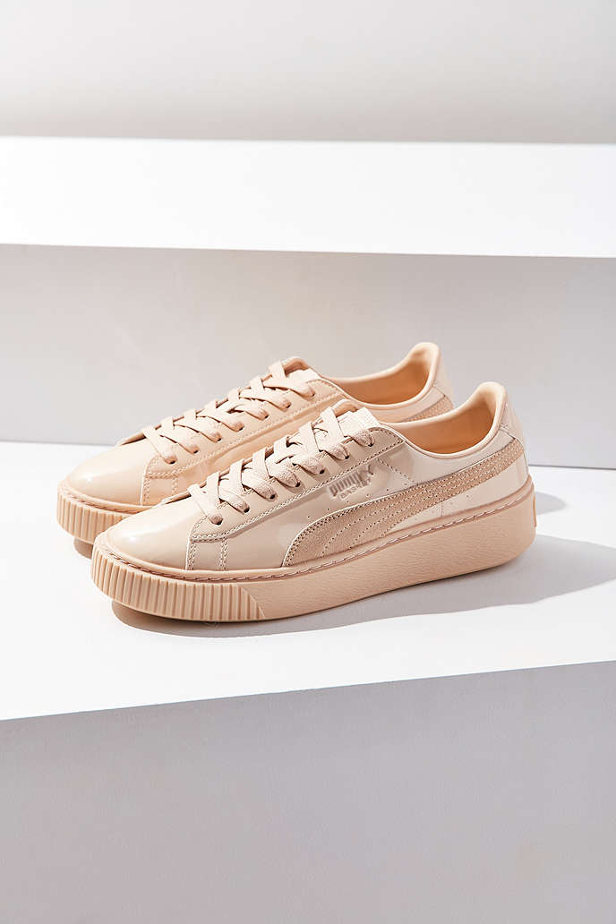 Puma Basket Patent Leather Platform