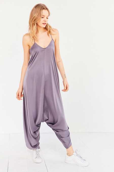 Silence + Noise Oversized Satin Jumpsuit