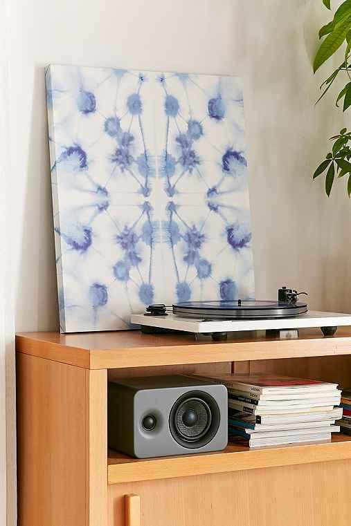 Jacqueline Maldonado For DENY Mirror Dye Blue Canvas Wall Art,BLUE,11X14