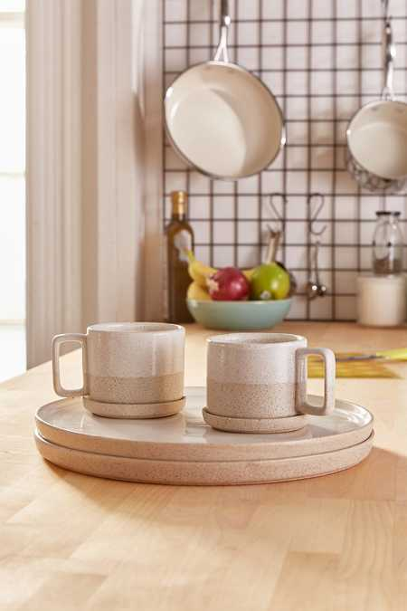 6-Piece Raw Dipped Dinnerware Set