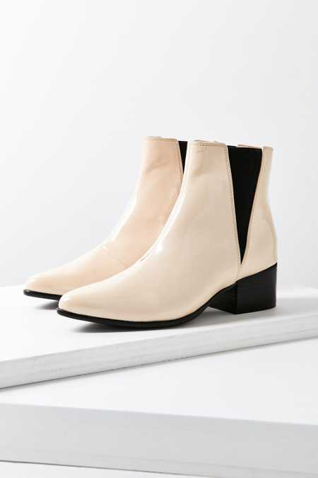 Vegan Patent Leather Pola Chelsea Boot