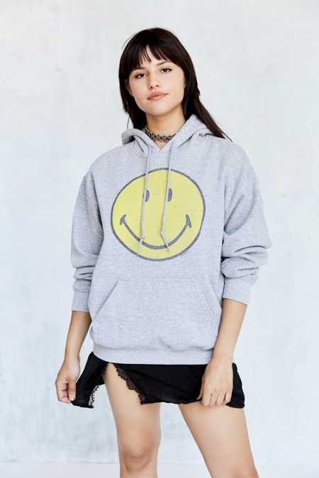 Smiley Face Hoodie Sweatshirt