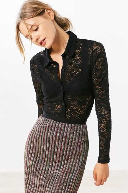 Cooperative Astarte Lace Button-Down Shirt