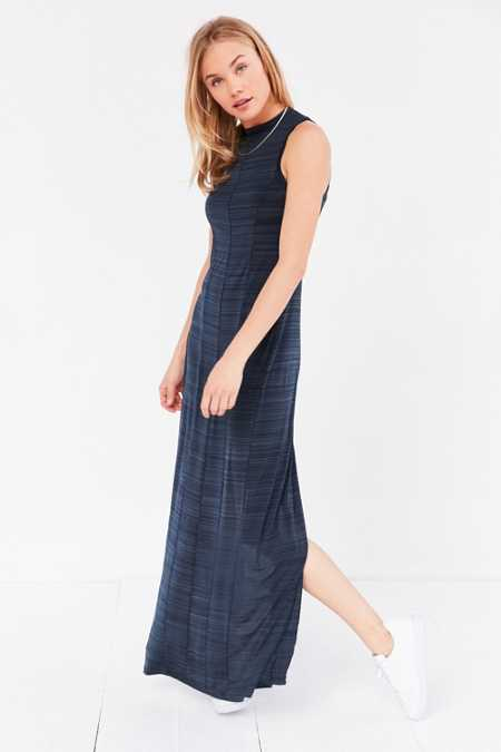 Silence + Noise Mock Neck Maxi Dress